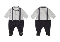 2015 newborn children baby boy gentelman rompers clothing long sleeves baby jumpsuits clothes rompers baby clothing vestidos
