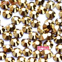 ss3 (1.3-1.5mm) Gold Glue On Rhinestones for Nail Art, 1440pcs/Pack, Flat Back Non Hotfix Nail Art Rhinestones 3d  Decorations
