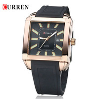 High Quality Authentic CURREN Fashion Casual Business Men Silicone Watches Men Steel Quartz Watch Relogios Masculinos De Luxo