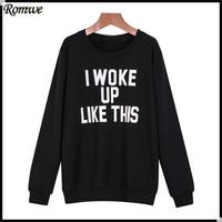 Женские толстовки и Кофты ROMWE moletons feminino 2015 sweatshirt14081204