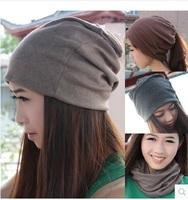 Couples hedging month pregnant women hat cap Korean tidal piles of Baotou ear cap cap hat knitted scarf hat