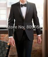 2015 Slim Fit Black Groom Tuxedos Groomsman Wedding Suits for Men terno noivo (Jacket+Pants+Vest+Tie) S210