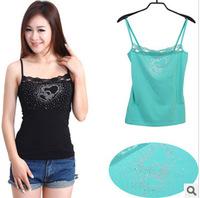 2015 Summer Women's Tops Clothing Fashion Chiffon Tank Top Vest Shirts Bamboo Fiber Sexy Shirts Blusas Wholesale GG-3179