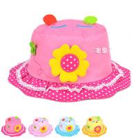 Cartoon Cat Kids Baby Cloth Hat Sun Flower Baby BOY GIRL Sun Visor Hats Infant Baby Beach Hats Children Floppy Hat 1pc MZX-15004
