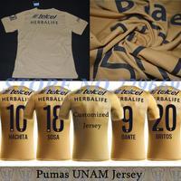 14/15 Best Thailand Quality Pumas UNAM 2015 Jerseys Mexico National Autonomous University Cougar 2015 Pumas Football Jerseys