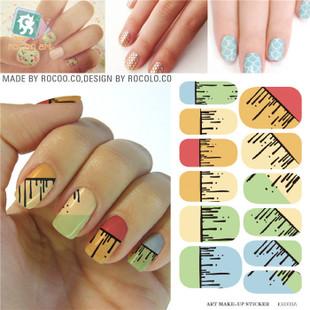 KH003A Water Transfer Foil Nails Art Sticker Cartoon Element Design Manicure Decals Harajuku Fingernails Wraps Decor Cheap(China (Mainland))