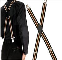 2015New 3Pcs 50MM 3 Styles Elestic Wide Braces Plain Heavy Duty Suspenders For Gentle Mens Ladies