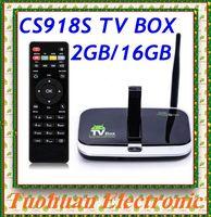 CS918S Andriod 4.4 Smart TV Box A31 Quad Core 2GB RAM 16GB ROM Built in 5.0MP Camera XBMC Bluetooth 4.0 4K WIFI Android TV Box