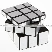 Free Shipping Shengshou 3x3x3 Magic Cube Puzzle Mirror Intelligence Game KidsToy Silver 4018-905