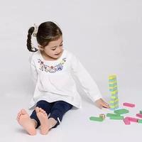 [Sashine kids]Pure cotton children girls long sleeve owl flower embroidery tops blouses&shirts girls all match dress shirts