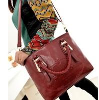 High Quality Women's Handbag Famous Brand 2014 Fashion Printing Leather Shoulder Bags Lady Hand Bag Free Shipping