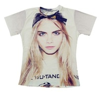 2015 new men/women 3D T-shirts print Cara_Delevingne 3D Tops T-shirt S M L XL XXL