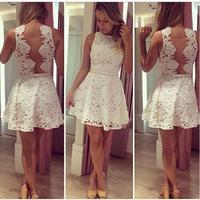 Vestidos De Fiesta Special Offer Mini Dress Casual Dress 2015 Vestidos Women New Lace Back Empty Thread Summer Vestido De Festa