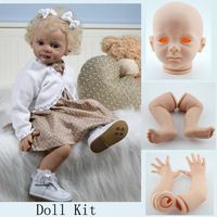 Soft  Vinyl Toddler Doll Kits Blank Head 3/4 Arms Legs  DIY Reborn Baby Doll Accessories For 24 inches Baby Dolls