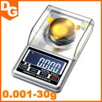 2015 Hot 0.001- 30g Mini LCD Digital Pocket Jewelry Diamond Weighing Scale Precision Measure Digital Scale