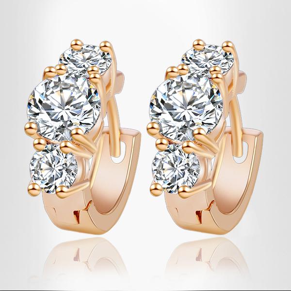 2015 New Arrival Brand Trendy Elegant Charm 18K Plated Gold Silver Romantic Austria Crystal Stud Earrings
