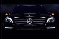 Car front grille for MERCEDES BENZ C class C180L C200L C260L LED LOGO 2014-2015, BADGE DECAL, Front EMBLEM LAMP