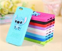 Fashion silicon soft 3D stitch  back case cover for iphone 5 5S 5/ for iphone 6 (4.7 inches)  /for iphone 6 plus (5.5 inches)