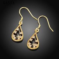 Free shopping 18K gold plating earrings Fashion High Quality zircon earrings KASHAE027