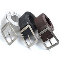 Fashion Men's Casual Dress Faux Leather Belt Buckle Waist Strap Belts  Top