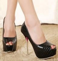 fashion snake spring ladies platform shoes woman 2015 peep toe pumps open toe sandals women shoes crystal high heels GL150008