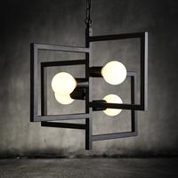 Korean art creative personality living room restaurant Cafe smoke hanging wrought iron chandelier lamp lights dual