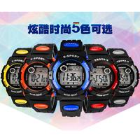 Fashion Men Women Unisex Sports Digital LED Quartz Alarm Day Date Rubber Wrist Watches 5 Colors Free & Drop Shipping