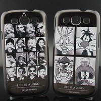 Life is A Joke Looney Tunes Moustache Style Plastic Hard Phone Cover Case For Samsung Galaxy S3 i9300