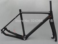 FR-603  Full Carbon Glossy Cyclocross Bike Frameset : BSA Frame 53cm For Disc Brake  + Fork