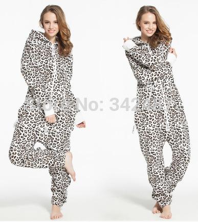 Unisex leopard Adult Onesie Pyjamas Winter Party Pajamas Jumpster outdoor onesie(China (Mainland))