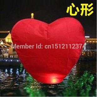 Factory direct sale E502 heart-shaped no PIC kongmin light Sky lanterns Wishing lamp wholesale(China (Mainland))