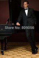 2015 New Arrival Black Groom Tuxedos terno noivo Groomsman Business Wedding Prom Suits For Men (Jacket+Pants+Vest+Tie) S224