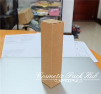 3.5*3.5*15.5cm Kraft Paper Gift Box Cosmetic Bottle Box Custom Packaging Paper Boxes Free Shipping