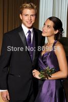 2015 Handsome Black terno noivo Groom Tuxedos Business Wedding Men Suits Groomsman Dresses (Jacket+Pants+Vest+Tie) S220