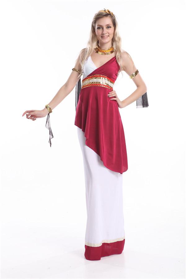 Free Shipping ZY390 Roman Empress Toga Fancy Dress Costume halloween costume women cosplay costume party dress size m(China (Mainland))