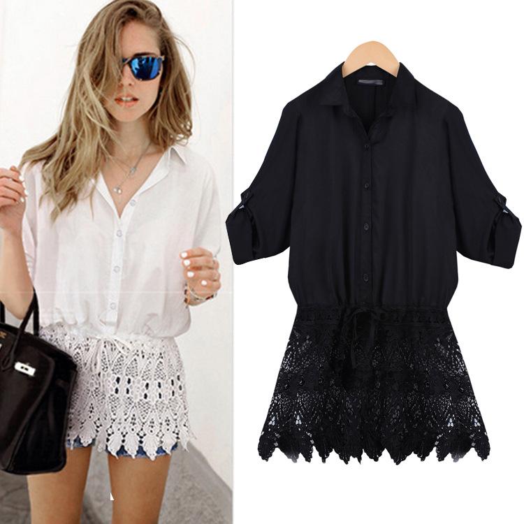 Женские блузки и Рубашки Carry 2015 Blusas Camisas Femininas Roupas T15623 женские блузки и рубашки lace blouse shirt roupas camisas blusas femininas 2015 xxl