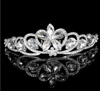 best quality rhinestone crystal tiara/crown becatiful flower wedding/party tiara jewelry use for lady/girls bridal jewelry !!