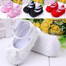 Cute del bambino presepe ragazza comode scarpe antiscivolo bambino principessa 0-12 mesi spedizione gratuita(China (Mainland))