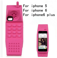 New fashion silicon soft case cover for apple iphone 5 5S / for iphone 6 (4.7 inches) Telephone model case cover