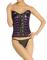 Free Shipping Push Up Corset Sexy Lingerie with G-string Women Bustie Slimming Shaper Red Purple Color XM-5818