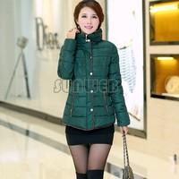 Winter Womens Coats Casaco Feminino Inverno 2015 Slim Office Epaulet Zippers Ladies Coat Casacos Plus Size B11 CB034921