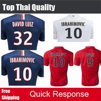 Top Thai quality 2015 Soccer Jersey CAVANI VERRATTI LUCAS IBRAHIMOVIC DAVID LUIZ  MATUIDI LAVEZZI PASTORE GINOLA 14 15 Jerseys
