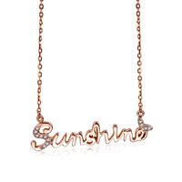 2015 New Arrival ZOCAI SUNSHINE 18K rose gold 0.03 ct diamond necklace - M size one X00527