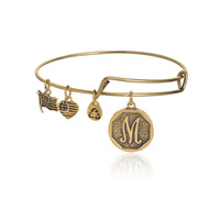 Alex and Ani Initial alphabet Bangle  gold plated simple wiring luckly bracelets for men  free shipping140807