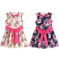 Peacemaker Girl dress cotton flower print girl dress baby dress in stock kids clothes children dress summer dress