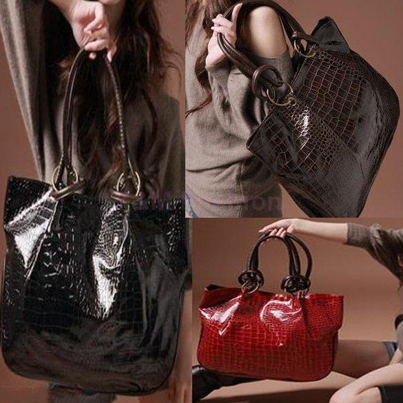2015 New Fashion Korea Style Women messenger bags Leather Purses Tote shoulder bags Crocodile print clutch bolsas women handbag(China (Mainland))