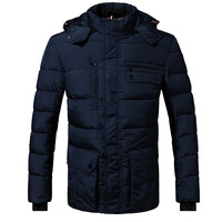 Removable Hooded Men Down Coats Plus Size M-3XL Simple Design Top Quality Winter Thick Warm Man Casual Slim Outwear