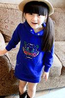 Peacemaker Girl dress cotton flower print girl dress baby dress in stock kids clothes children dress spring dress