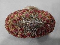 Ladies colorful rhinestone wedding bag in RED, DARK GREY. Female fashion evening clutch bag. Elegant purse.