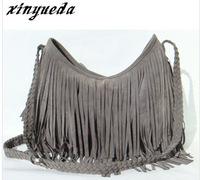 2015 New Arrive Fashion Autumn Fashion Woman messenger bags women handbag PU leather Tassel bag shoulder bag Free Shipping
